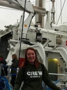 Life Coach Dana-Maria Faneker als Greenpeace crew